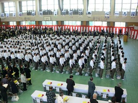 入学式の写真1